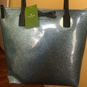 Kate Spade Blue Glitter Bag